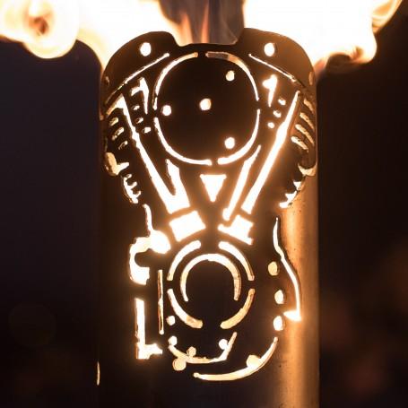 Gartenfackel V-Motor 2 Zylinder