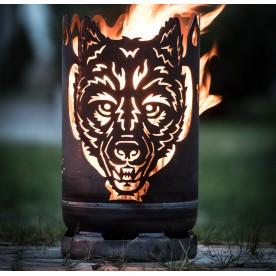 kleine Feuertonne Wolf