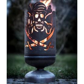 Feuerkorb Totenkopf Pirat