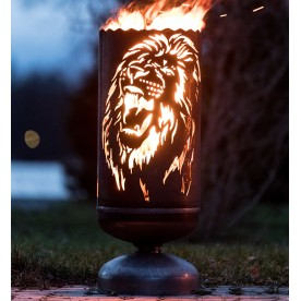 Feuerkorb Löwe brüllend