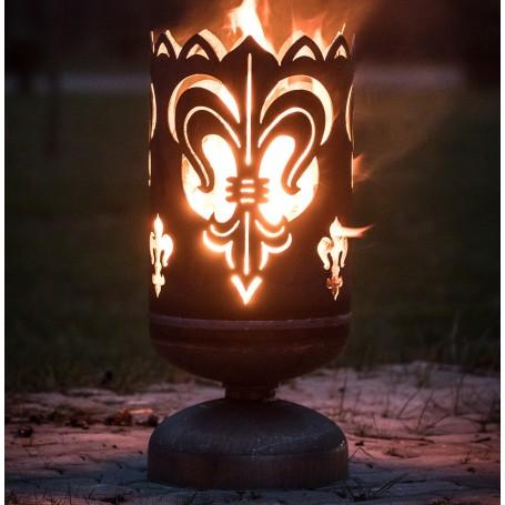 Feuerkorb Lilie