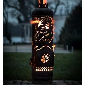Feuerstelle Wolf seitlich