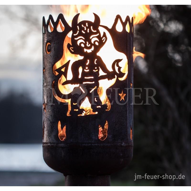 Jm Feuer Shop terrassenofen teufel mit deckel feuerstellen