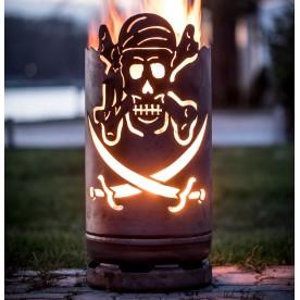kleine Feuertonne Pirat Totenkopf
