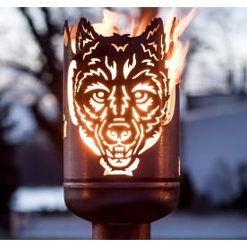 Terrassenofen Wolf
