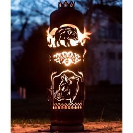 Feuerstelle Wildschweine