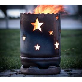 kleine Feuertonne Sterne