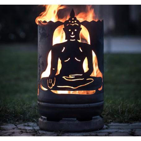 kleine Feuertonne Buddha