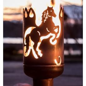Terrassenofen Pferd