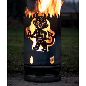 kleine Feuertonne Teufel