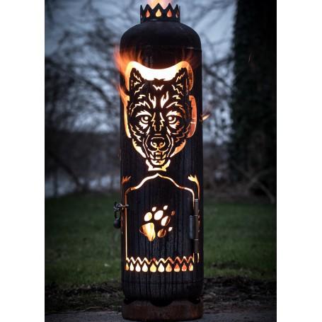 Feuerstelle Wolf