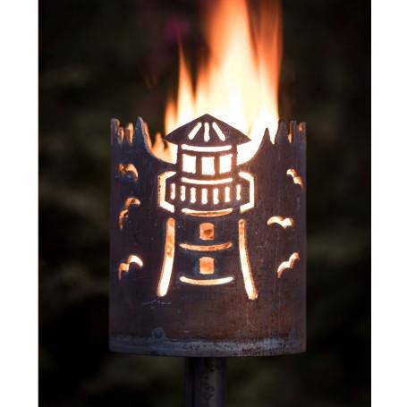 kleine Gartenfackel Leuchtturm