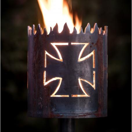 Gartenfackel Eisernes Kreuz