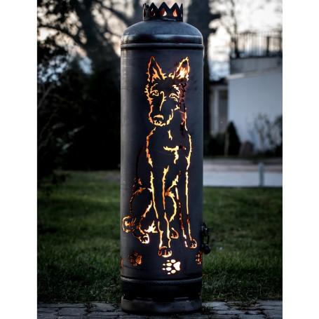Feuerstelle Rauhaar Podenco
