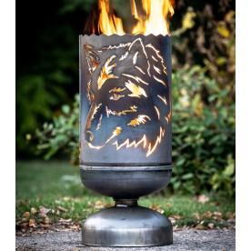 Feuerkorb Wolf seitlich