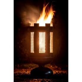 Feuerkorb mit Streckmetall
