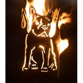 Gartenfackel Bulldogge französisch (ohne Stiel)