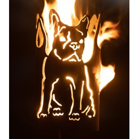 Gartenfackel französische Bulldogge (ohne Stiel)