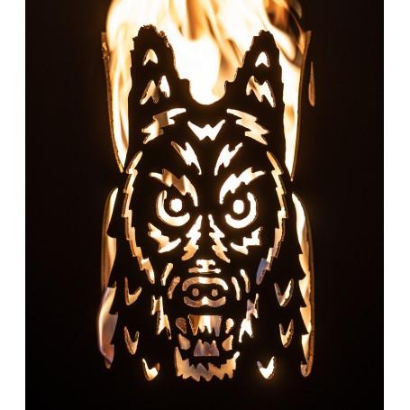 Gartenfackel böser Wolf (ohne Stiel)