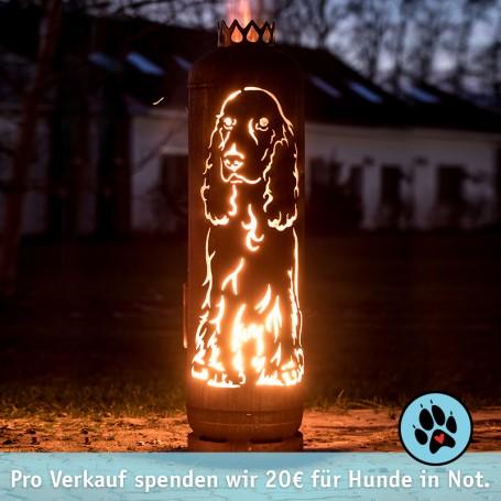 Feuerstelle Cocker-Spaniel