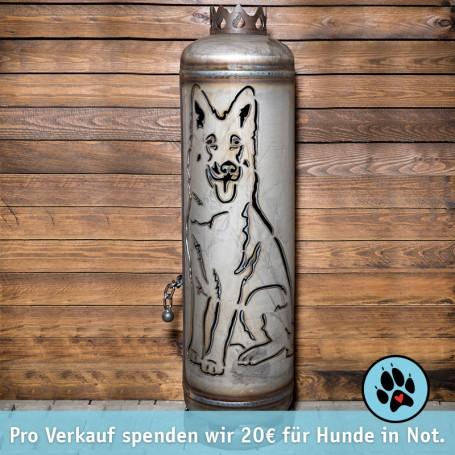 Feuerstelle Schäferhund