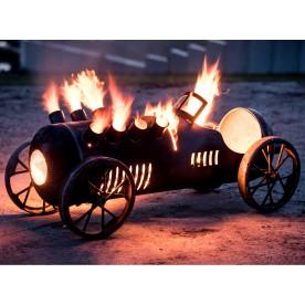 große Auto-Feuerstelle