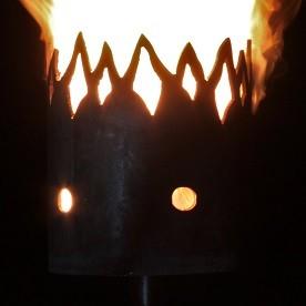 Gartenfackel Flammen zeitlos  (ohne Stiel)