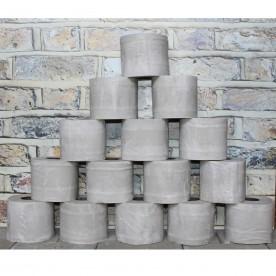 15 x gewachste Toilettenpapierrolle Brenndauer 70-90min