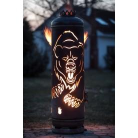 Feuerstelle Grizzlybär