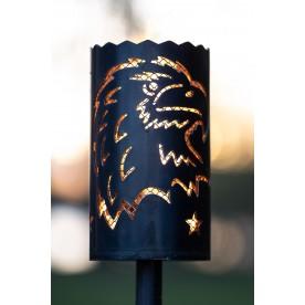 Gartenfackel Adler mit Streckmetall (ohne Stiel)