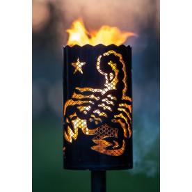 Gartenfackel Sternzeichen Skorpion - 24. Oktober bis 22. November mit Designgitter (ohne Stiel)
