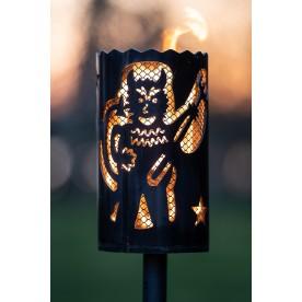 Gartenfackel Teufel mit Designgitter (ohne Stiel)