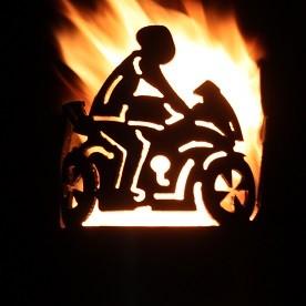 Gartenfackel Motorrad (ohne Stiel)
