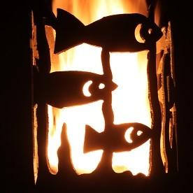 Gartenfackel Fische (ohne Stiel)
