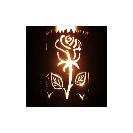 Gartenfackel Rose (ohne Stiel)