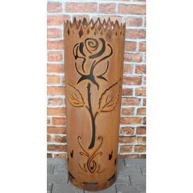 Feuertonne Rose