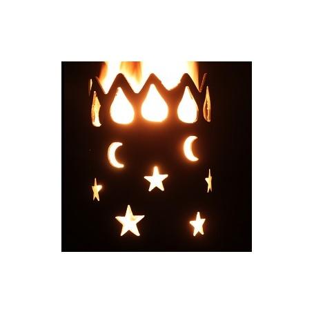 Gartenfackel Mond und Sterne (ohne Stiel)