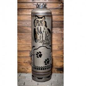 Feuerstelle Katze