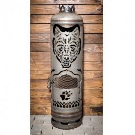 Feuerstelle Wolf (mit Streckmetallgitter-Tür)