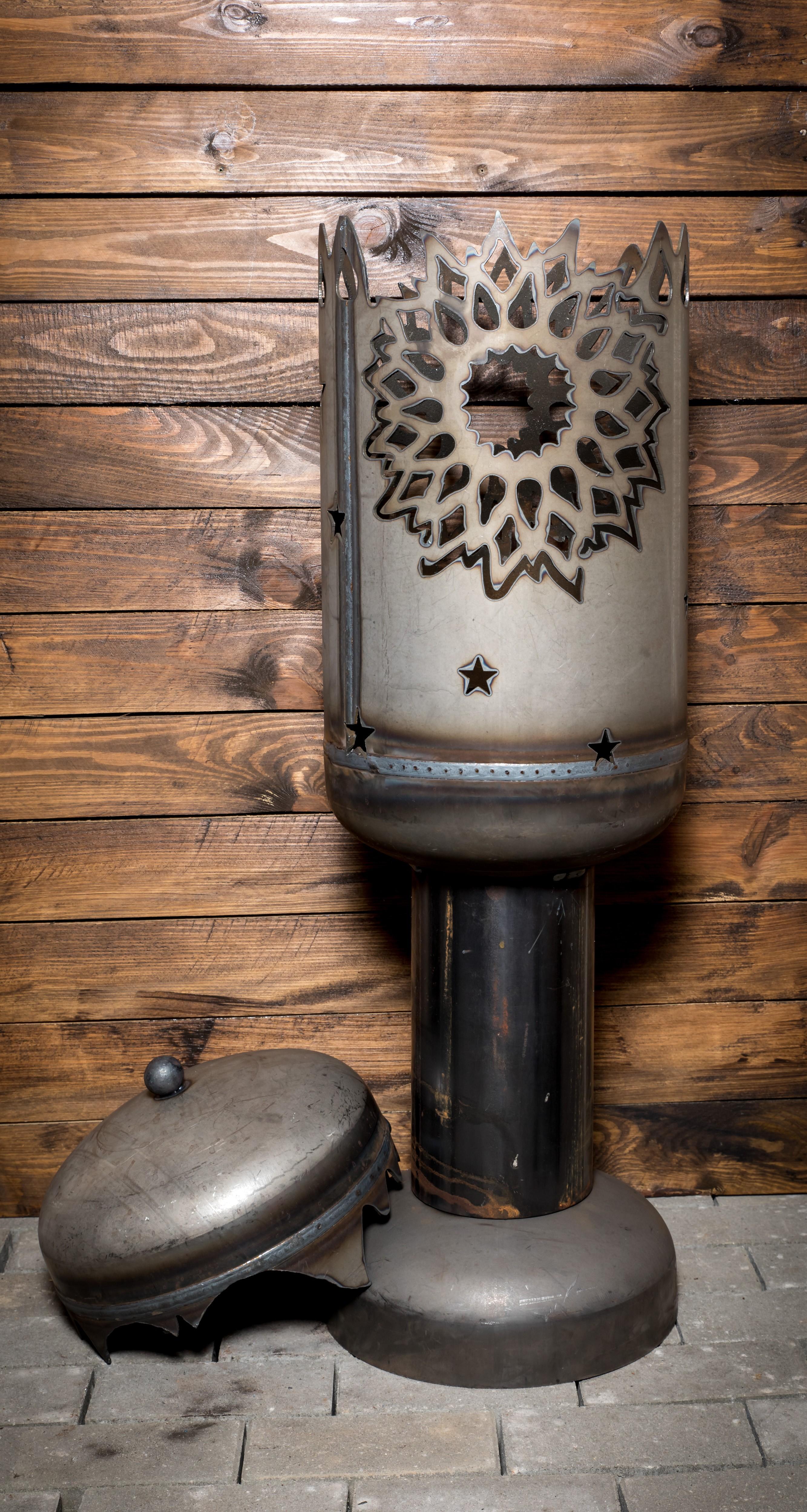terrassenofen sonne mit deckel feuerstellen. Black Bedroom Furniture Sets. Home Design Ideas