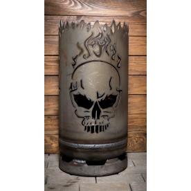 kleine Feuertonne Biker-Skull