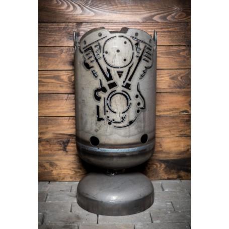 Feuerkorb Chopper 2-Zylinder