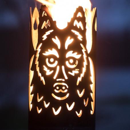Gartenfackel lieber Wolf (ohne Stiel)