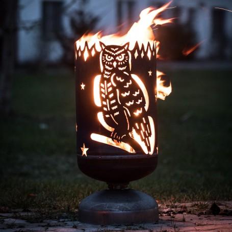 Feuerkorb Eule klassisch
