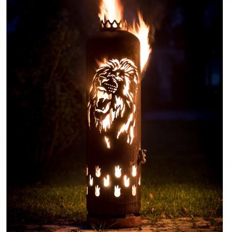 Feuerstelle Löwe brüllend