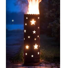 Feuertonne Sterne